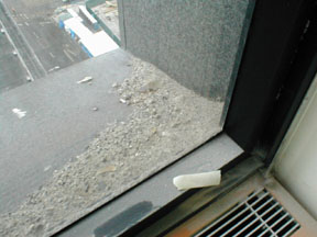 More ash on the sill