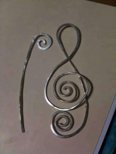 Shawl Pin (sterling silver hammered wire